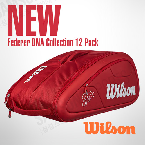 Federer DNA Collection 12 Pack Bag Red